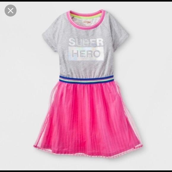 88261a99f Cat & Jack Dresses | Cat Jack Target Super Hero Holo Tulle Dress 7 8 ...